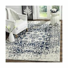 Safavieh Madison Collection MAD603D Cream and Navy Area Rug 8' x 10'