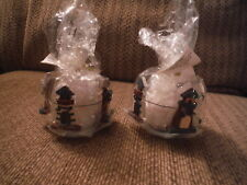 NEW Lot of 2 Wooden Lighthouse Decorative Tea Light Candle Cozy