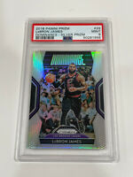 LeBRON JAMES 2018-19 PANINI PRIZM DOMINANCE SILVER PRIZM SP PSA 9 CAVS LAKERS