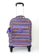 NWT Kipling Rolling Suitecase 27 Litres With Furry Monkey Multicoloured - Bright