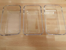 TRANSPARENT CONTAINERS X 3