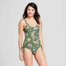 9159316486ec06 Tori Praver Seafoam Women's Green Floral Cheeky Lace Up One Piece