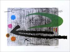 Joan Miro Toward The Left Facsimile Signed Offset Litho Print COA