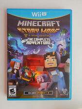 Minecraft Story Mode: The Complete Adventures Edition Game! Nintendo Wii U
