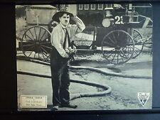 1916 THE FIREMAN - RARE R-1930S LOBBY CARD - CHARLIE CHAPLIN SILENT COMEDY RKO