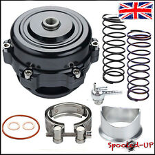 50MM UNIVERSAL BLACK TURBO SUPER CHARGED ALLOY V-BAND BLOW OFF DUMP VALVE BOV