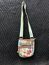 Lily Bloom ~Flower Print  Cross body Organizer Shoulder Camera Bag Excellent