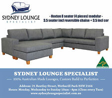 Brand New - AUS MADE Hoxton 3 pieces Modular Suite with Chaise Sofa Lounge Couch