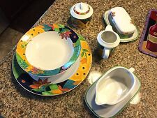 💥💥💥💥Gorgeous Mikasa 💥Dinnerware Jamaica 9 Piece Serving Set Shipped Insured