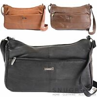 Ladies Super Soft Nappa Leather Handbag / Shoulder Bag (Black, Dark Brown, Tan)