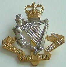 8TH KINGS ROYAL IRISH HUSSARS  CLASSIC GENUINE REGIMENTAL CAP BADGE