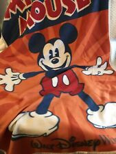 Disney Parks Mickey Mouse Walt Disney World Orange Fleece Throw Blanket