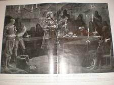 Una seduta del Tribunale vehmgerlicht della Vestfalia 1905 stampa ref L