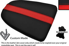 BLACK AND RED CUSTOM FITS APRILIA RSV MILLE 01-04 REAR LEATHER SEAT COVER
