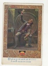 Im Kuehlen Keller Sitz Ich Hier Germany Art Vintage Postcard 223a