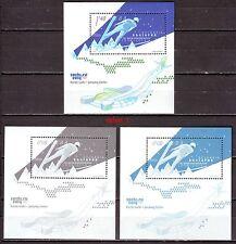 2014 Bulgaria Ski  Jump  Winter Olympic games Sochi 3 x Souvenir sheets  MNH **
