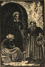 ANNE MERRIMAN PECK, [Three Women], Wood Engraving, 20th C