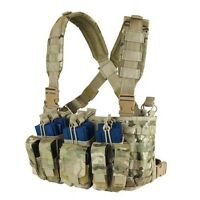 CONDOR MOLLE Tactical Nylon Recon Chest Rig hold Mag Vest mcr5-008 MultiCam Camo