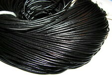 10M BLACK GENUINE LEATHER CORD 2mm