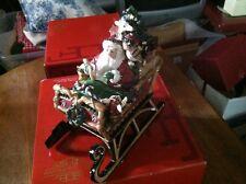 Fitz & Floyd, Holiday Musicals, Christmas Lodge Sleigh Musical, Nib