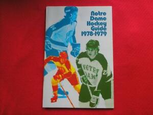 NOTRE DAME HOCKEY MEDIA GUIDE 1978 - 1979 MAGAZINE BOOK MINT CONDITION