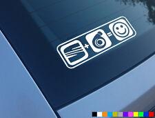 Asiento Plus Boost equivale a Sonrisas Auto Adhesivo Etiqueta Funny Leon Ibiza Cupra R Turbo