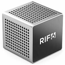 RIF6 Sound Cube Small Bluetooth Rechargeable Portable Speaker 12 Hour Playtime