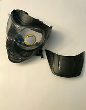 Tippmann Valor Performance Black Paintball Goggles w Visor and Protective Film
