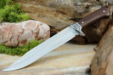 Jagdmesser Jagd Bowie Messer Survival Knife mit Nylon Hülle Edelstahl rostfrei