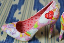 Care Bear x Iron Fist Pump Point Heels sz us7 uk5/38 Rave Lolita Kawaii 80's