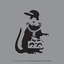 SKU2383 - Banksy Rat Skirting Board Laptop Macbook Sticker - Black 100mm x 78mm