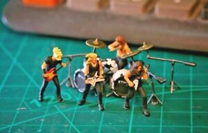 Miniature Figure Metallica set 1/87 or 1/64 Diecast no Preiser