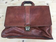 Chestnut Brown Leather Briefcase Laptop Bag Beautiful Leather Lovely Condition
