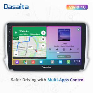 "Dasaita For Peugeot 208 2008 10.2"" Android 10 Car Stereo Radio Player GPS Navi"