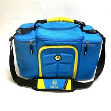 6 Pack Fitness Innovator Meal Management Bag Cooler- Blue Yellow Travel Fit
