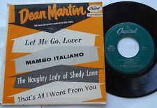 DEAN MARTIN Let me go, Lover CANADA ORIG 1955 CAPITOL EP P/S EAP 1-9123