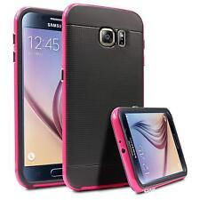 Hybrid Cover Samsung Galaxy S6 Edge Hülle Handy Tasche Schutzhülle Silikon Case