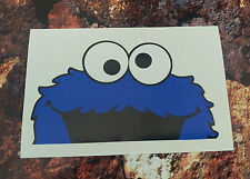 Cookie monster  Peeping window/car/van decal sticker JDM  120mm x 70mm