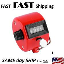 4 Digit Number Manual Hand Handheld Tally RED Mechanical Palm Clicker Counter