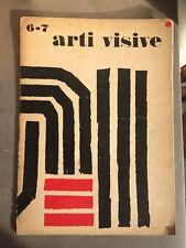 Arti Visive N°6-7 Rivista della fondazione Origine Abstract Abstrait Art (1954)