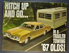 1967 Oldsmobile Towing Brochure Cutlass F-85 98 Delta 88 Delmont Wagon Original