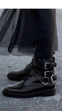 STRADIVARIUS (Zara Group) Militare Stivali da motociclista con fibbia taglia 6 EU 39 Stati Uniti 8