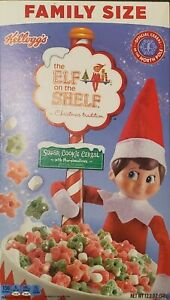 Limited! THE ELF ON THE SHELF SUGAR COOKIE CEREAL 12.2 OZ BX + MARSHMALLOWS. New