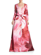 Carolina Herrera Pink Floral Trench Gown Size 10 $7990 Runway Piece