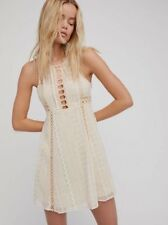 """NWT $128 Free People """"Wherever You Go Mini Dress"""" size 0 in Ivory"""
