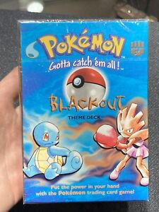 Pokemon Blackout New Factory Sealed Trading Cards Theme Deck 1999 Base Set