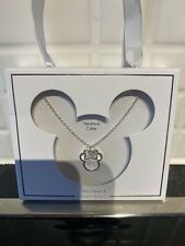 Official Disney Micky Minnie Mouse Necklace Silver New