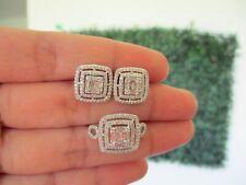 1.22 CTW Diamond Ring & Earrings Set 14K White Gold JS98 sep