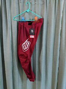 Troy Lee Designs Sprint Pants Burgundy/White Size 30 Adult