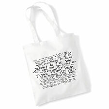 Art Studio Tote Bag WESTLIFE Lyrics Print Album Poster Gym Beach Shopper Gift